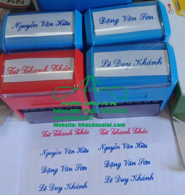 Nên sử dụng mực đỏ hay mực xanh để khắc dấu tên cá nhân
